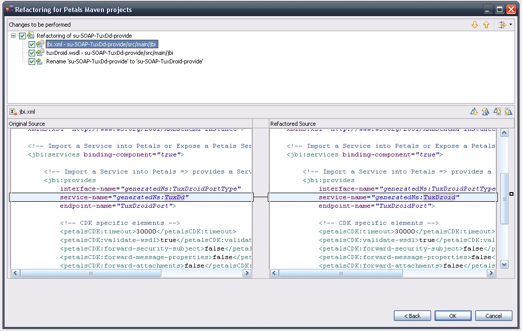 Merge / Compare dialogs and XML syntax highlighting
